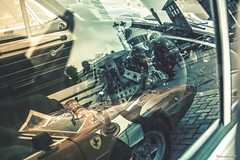 Ford Escort Mk1 RS2000 with Ferrari GTS 328 (technodean2000) Tags: ferrari gts 328 ©technodean2000 lr ps photoshop nik collection nikon technodean2000 flickr photographer d810 wwwflickrcomphotostechnodean2000 www500pxcomtechnodean20 ford escort mk1 rs2000 window reflection