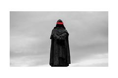 Bruno (the.otter7) Tags: bruno innovative burnt trial inquisition statue sad fire red art blackandwhite bnw mood dark magic warlock religion
