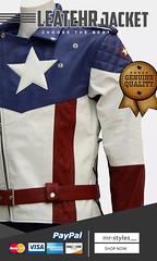 Captain-America-motorcycle-jacket (mrstyles137) Tags: leather jackets superhero capainamerica captainamericalovers celebrities leatherjacket menswear mensfashion