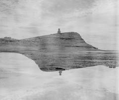 Kimmeridge Bay (Attila Pasek (Albums!)) Tags: bronicasqa mediumformat 120film multiexpo film analogue kimmeridgebay delta tower multiexposure camera blackandwhite seascape coast ilford 400 bw