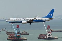 Xiamen Airlines Boeing 737-85C(WL) B-1964 (EK056) Tags: xiamen airlines boeing 73785cwl b1964 hong kong chek lap kok airport