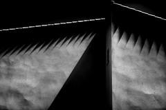 Teeth (elgunto) Tags: blackwhite abstract architecture urbanlandscape house monochrome highcontrast shapes panasonic lumix dmccm1