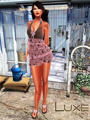 LUXE Paris@SWANK June 2019 (Geoffrey Firehawk MR V♛ Belgium 2014) Tags: sl secondlife event swank dress romper sandals footwear sexy beauty mesh classic avatar luxeparis fashion fashionpixel femalewear femaleclothing female model modeling mode mannequin nicesim bajanorte