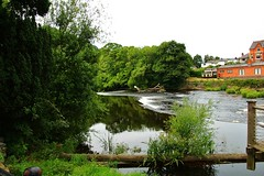 The River Dee (Eddie Crutchley) Tags: europe uk wales llangollen outdoor river nature riverdee weir water trees simplysuperb
