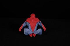 Spider man (Djangorigami) Tags: bellecombeenbauges savoie france origami photography papier pliage modèle character spider man spiderman hero superhero comics