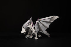 Ancient dragon (Djangorigami) Tags: origami photography papier pliage modèle dragon kamiya fold paper art sculpture fantastic ancient