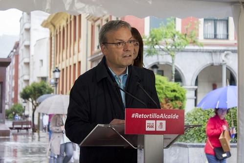Idoia Mendia y Alfredo Retortillo en Barakaldo 26M