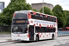 Go Ahead Plymouth Citybus 521, WJ65BYM. (EYBusman) Tags: go ahead plymouth citybus devon bus coach royal parade city centre alexander dennis enviro 400 overall advert british legion poppy appeal wj65bym eybusman