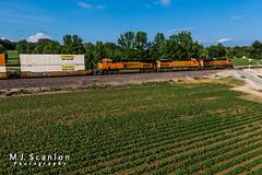 BNSF 4134 | GE C44-9W | BNSF Birmingham Subdivision (M.J. Scanlon) Tags: bnsf4134 bnsf4861 bnsf7375 bnsfbirminghamsubdivision bnsfqcloatg bnsfrailway business byhalia c449w cargo commerce container dji digital doublestack drone engine freight ge horsepower intermodal jbhunt landscape locomotive logistics mavic2 mavic2zoom merchandise mississippi mojo move outdoor qcloatg qcloatg606a quadcopter rail railfan railfanning railroad railroader railway scanlon track train trains transport transportation ©mjscanlon ©mjscanlonphotography cloatg