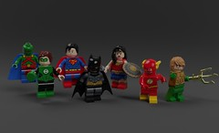 Justice (KoyoteKB) Tags: justiceleague batman superman wonderwoman flash greenlantern aquaman martianmanhunter lego custom