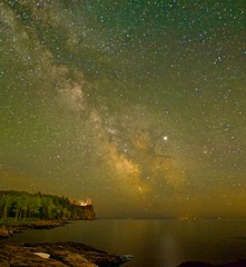 The Lighthouse & The Milky Way (f/ames) Tags: splitrock lighthouse minnesota milkyway pano lakesuperior colorful stars beauty astrophotography canon5d mkii