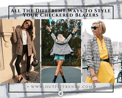Check Blazer Trend-18 Ideas On How To Wear Checkered Blazers (outfittrends) Tags: fallfashionideas girlswinteroutfitstrends jackets