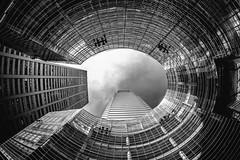 See That Hole UP There in My Heart? (Thomas Hawk) Tags: 731lexingtonavenue america bloombergtower césarpelli manhattan nyc newyork newyorkcity pelliclarkepelli usa unitedstates unitedstatesofamerica architecture bw fav10 fav25 fav50 fav100