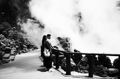 smokeylooks (dotsally) Tags: japan hotspring street blackandwhite highcontrast ricohgrii noiretblanc