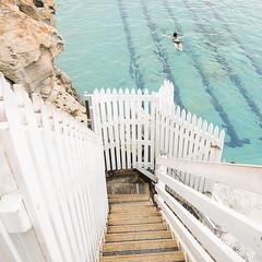 Janvier 2019 - Sydney, plage de Bronte (fabvirge) Tags: piscine escalier sydney australie barrière
