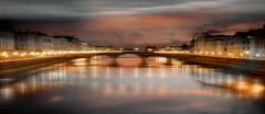Luci (Zz manipulation) Tags: art ambrosioni zzmanipulation arte luci oro city ponte illuminazione panoramica sera