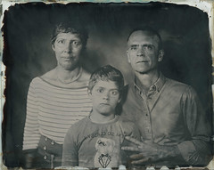 Family (Bertrand Carrot Film Photographer) Tags: ambrotype 8x10 8x10camera since1850 wetplate wetplatephotography wetplatecollodion oldprocess family artiste art