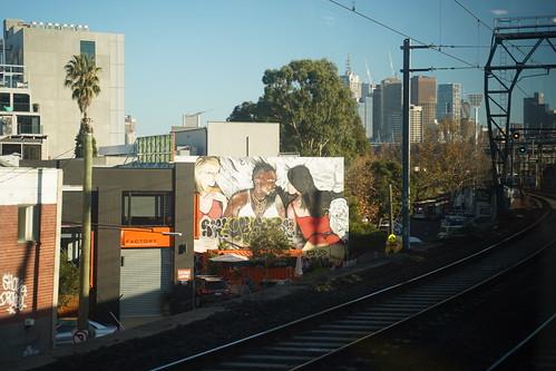 Taylor, Kanye, Kim mural in Richmond - wide