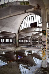 Atelier SNCF (DamienLrch) Tags: urbex warehouse glass reflection urbexphoto urbexphotography abandoned abandonedwarehouse lostplaces decay scary graffiti urban urbandecay urbanarchitecture architecture urbexfrance urbexworld
