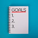 List of goals written in notebook