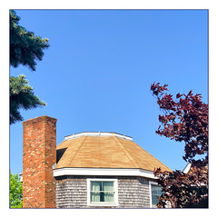 Octagon (Timothy Valentine) Tags: ptown capecod 0519 window fbpost sky chimney 2019 datesyearss hrsw provincetown massachusetts unitedstatesofamerica