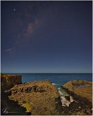 Milky Way - Shooting Star (e0nn) Tags: steveselbyphotography steev steveselby pentax pentaxk1 ricoh milkyway stars night nocturnal longexposure bombo luminarflex skylum kiama visitkiama