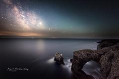 Green Bridge Looking to the Heavens (karlmccarthy1969) Tags: astrophotography milkyway night stars sky rocks wales astro nikon d810 sigma