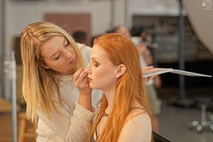BTS, MUA Odelia Kiefer working on Model Chandler Lovelle at (now defunct) Pixture Perfect Studio, Pompano Beach, FL, 2017-11-20 (JS_Photos) Tags: awesome beautiful sensual behindthescenes model photoshoot studio