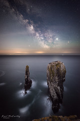 The Elegug Stacks under starlight (karlmccarthy1969) Tags: astrophotography milkyway night stars sky rocks wales astro nikon d810 sigma