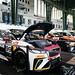 Alle Jaguar i-Pace eTrophy Rennwagen, die nach dem Rennen die Batterien aufladen