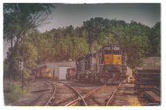 Marker 48 (* Gemini-6 * (on&off)) Tags: railroadtracks railroad rail locomotive train transportation vintage distressed framed hdr hss