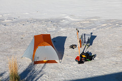 My Home for the Night (W9JIM) Tags: w9jim camp camping tentcamping whitesands whitesandsnationalmonument orange campinggear gypsum caso₄·2h₂o chihuahuandesert copperspurul1 bigagnes canoneos5dmarkiv ef24105mmf4lisusm 24mm 24105l 5d4