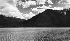 Kootenay Valley B.C. (Mr. Happy Face - Peace :)) Tags: black white lake mountains art2019 mrjeff kootenay britishcolumbia cans2s bw boating fairmount resort invermere spring clouds sky sun