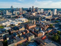 Downtown Cincinnati and Pendleton (Travis Estell) Tags: cbd pendleton cincinnati centralbusinessdistrict djiphantom4pro ohio aerialphotography downtowncincinnati downtown
