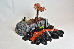 Lava Conquerors - Ord Mantell (WG Productions) Tags: lego star wars swtor old republic galactic sith empire lava tree pipeline rocks magma conquerors ord mantell toy toys starwars