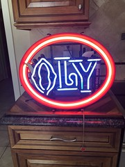 OLYMPIA BEER NEON ADVERTISING SIGN (ussiwojima) Tags: oly olympiabeer beer neon advertising sign