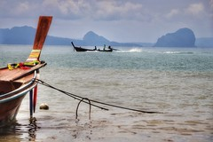 Fishermen return (leewoods106) Tags: fisherman fishermen boat andaman andamansea indianocean ocean sea green scenery beautifulseascapes seascape kohlanta island krabi thailand thai east southeastasia fareast asia