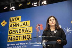 IATA AGM 014 (Travel Extra) Tags: agm christineourmièresceoofflybe iata iataagm2019annualgeneralmeeting internationalairtransportassociation korea nataliamroz seoul travel airtravel airlines airtransport aviation