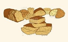 sweets and breads composition (Hebstreits) Tags: anniversary art background baked bakery banner bottle bread breakfast cake cereal colored colorful composition cup dairy decoration decorative delicious design dessert drawing drawn ear eco elegant element food fresh hand healthy honey icon illustration isolated isometric meal natural organic pastry product products retro set sweet tasty tea vector vintage