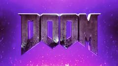 Doom Fanart wallpaper (MrLixm) Tags: doom hell wallpaper fanart videogames red green purple sparks fire text logo nuke compositing 3d cgi blender