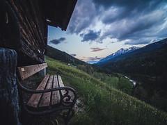 The lonely bench... (davYd&s4rah) Tags: bench lonely sunset austria alps hiking sky clouds mountainrange laowa75mmf20 olympusem10markii pov hills berge alpen bergkette olympus ruhe calm tranquil himmel wolken sonnenuntergang österreich europe europa bergwelten wiese alpenblumen blühen fluss schneebedeckt