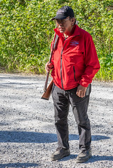 Preview of our holiday in Canada and Alaska. - Guard on a tour of the wood looking for bears, Hoonah, Alaska. (3.3 mil views - Thank you all.) Tags: usa holiday canada alaska unitedstatesofamerica juneau sitka staneastwood stanleyeastwood ketchikan hoonah