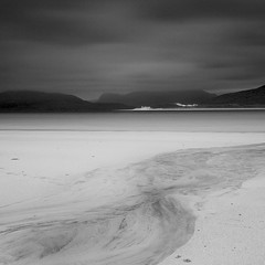 Western Isles 11 (Roddy McIntosh) Tags: blackandwhite monochrome bw landscape seascape water sea sky clouds storm beach sand sanddunes scotland