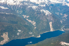 Preview of our holiday in Canada and Alaska. - Okanagan Lake, Alberta, Canada from 40,000 feet (3.3 mil views - Thank you all.) Tags: staneastwood stanleyeastwood holiday canada usa alaska juneau ketchikan unitedstatesofamerica hoonah