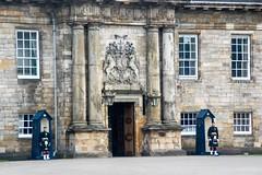 Petit circuit en Écosse (PierreG_09) Tags: grandebretagne royaumeuni écosse edinburgh édimbourg garde soldat uniforme kilt holyroodhouse palaceofholyroodhouse palaisdeholyrood