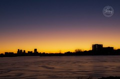 Cloudless sunrise over the frozen lake with the city skyline in silhouette. Taken on 2-2-19, at Sloan Lake in Denver, Colorado.  ~ ~ ~ ~ ~  #CanonRebelT5 #Canon #Rebel #T5 F/11 35mm 1/60s ISO-2000 #cloudless #sunrise #frozenlake #cityskyline #silhouette # (oooshinyphotography) Tags: sunrise skycaptures hashtagcolorado sloanslake canonrebelt5 sloanlake skyline coloradoshared canon oooshiny cityskyline colorado coloraodolove denver colorcaptures frozenlake sky t5 rebel frozen cloudless coloradocreative coloradophotography oooshinyphotography viewcolorado sunriseandsunsets coloradophotographer silhouette coloradocollective lake