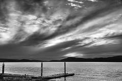 2012-05-02 Rosario Strait Sunset (B&W) (2048x1360) (-jon) Tags: anacortes skagitcounty skagit washingtonstate washington salishsea fidalgoisland sanjuanislands pugetsound washingtonpark seascape beach dusk sunset spring sunsetbeach rosariostrait pacific ocean pacificocean pacificnorthwest pnw bw blackandwhite a266122photographyproduction boatlaunch dock ramp