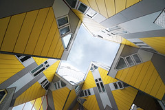 Cube-houses of Rotterdam (Jeff Camphens) Tags: architecture rotterdam cube yellow house houses abstract nikon d3300 1020mm