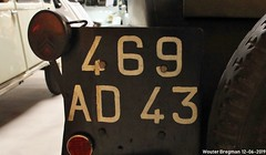 469AD43 (XBXG) Tags: 469ad43 license plate kenteken plaque immatriculation immat haute loire hauteloire france frankrijk 1955