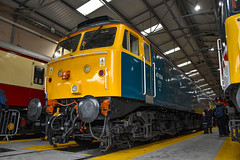 47853 - Crewe Diesel Depot Open Day 2019 - 08/06/19. (TRphotography04) Tags: br blue 47853 aka 47614 display crewe all change deisel depot open day 2019